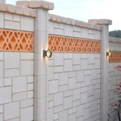 фото забор из камня красивый