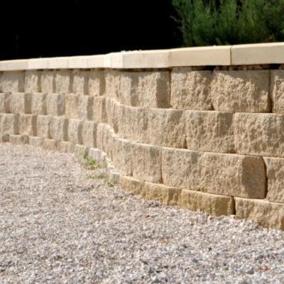 фото подпорной стены из бетонных блоков