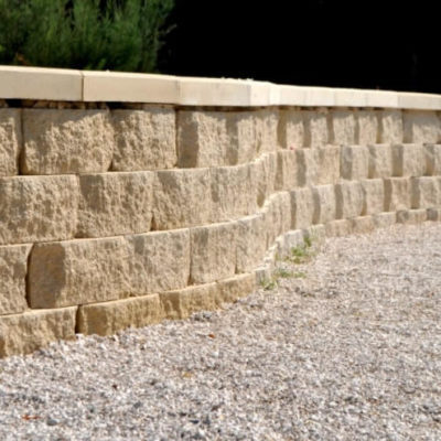 фото подпорной бетонной стены