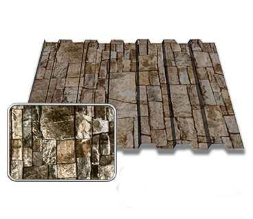 Профнастил Принтек вертикальный камень